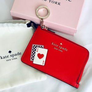 Kate Spade Lucky Draw Zip Card Holder Wallet